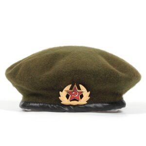 Béret militaire russe vert kaki Béret en laine Béret femme Béret homme Béret militaire Béret par couleur Béret par matière Béret par style Béret vert