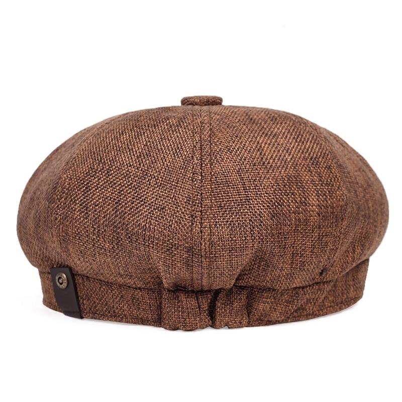 Béret casquette Gavroche Marron Béret en polyester Béret homme Béret marron Béret par couleur Béret par matière Casquette béret