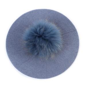 Béret Pompon Femme Bleu Béret femme Béret marron Béret par couleur