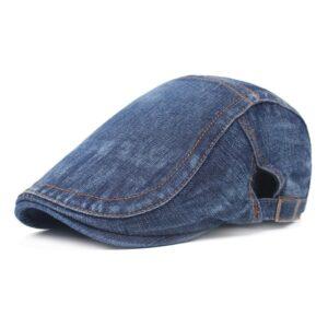 Nouveau hommes Cowboy bérets chapeau mode femmes rétro pare-soleil chapeaux unisexe taille réglable Vintage jean coton chapeau Béret bleu Béret femme Béret homme Casquette béret
