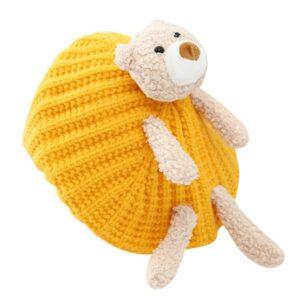 Béret au crochet ourson enfant orange