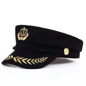 Béret casquette style militaire moderne noir