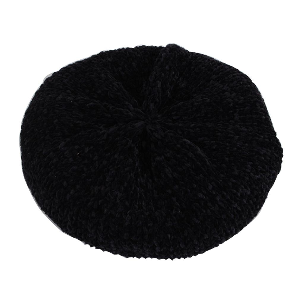 Béret au crochet noir pour fille Béret au crochet Béret en coton Béret enfant Béret filles Béret par couleur Béret par matière Béret rouge