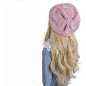 Béret au crochet rose pour fille Béret au crochet Béret en coton Béret enfant Béret filles Béret par couleur Béret par matière Béret rouge