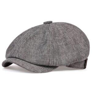Béret casquette Gavroche gris foncé Béret en polyester Béret gris Béret homme Béret par couleur Béret par matière Casquette béret