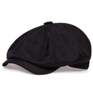 Béret casquette Gavroche Noir Béret en polyester Béret homme Béret noir Béret par couleur Béret par matière Casquette béret