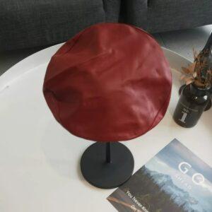 Béret rétro en cuir synthétique pour femme Béret en cuir Béret en synthetique Béret femme