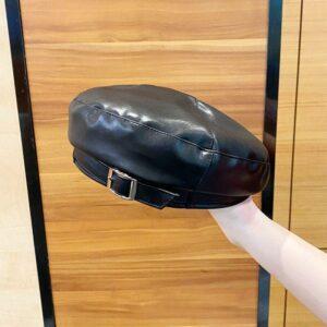 Béret casquette en cuir synthétique pour femme Béret en synthetique Béret femme Casquette béret