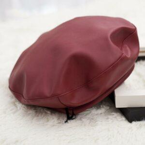 Béret de peintre britannique en cuir synthétique Béret en synthetique Béret femme