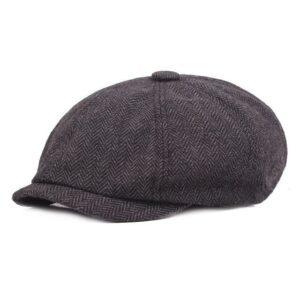 Casquette Gatsby en laine pour homme, chapeau plat à chevrons Peaky Blinders Béret en coton Béret en laine Béret femme Béret homme Béret irlandais Béret Peaky Blinders Casquette béret
