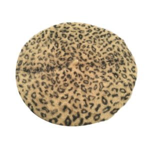 Beret léopard blanc