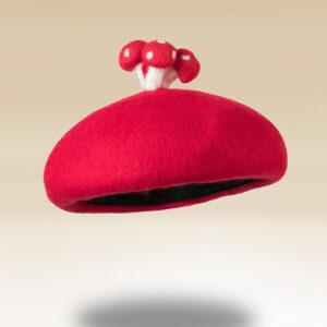 Béret rouge forme champignon mignon Béret en laine Béret enfant Béret filles