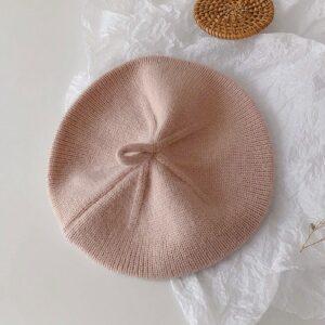 Béret tricoté vintage rose pour filles Béret en laine Béret enfant Béret filles