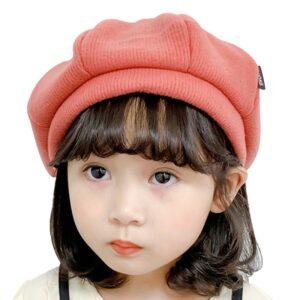 Béret rouge en coton Béret en coton Béret enfant Béret filles Béret garçons Béret rouge