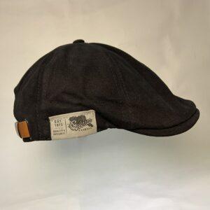 Béret style britannique noir en coton et lin Béret en coton Béret en lin Béret homme Béret noir