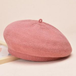 Béret en coton rose pour l'hiver Béret en coton Béret femme