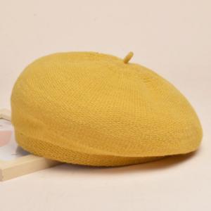 Béret en coton jaune pour l'hiver Béret en coton Béret femme