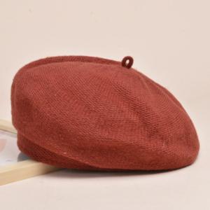 Béret en coton marron pour l'hiver Béret en coton Béret femme