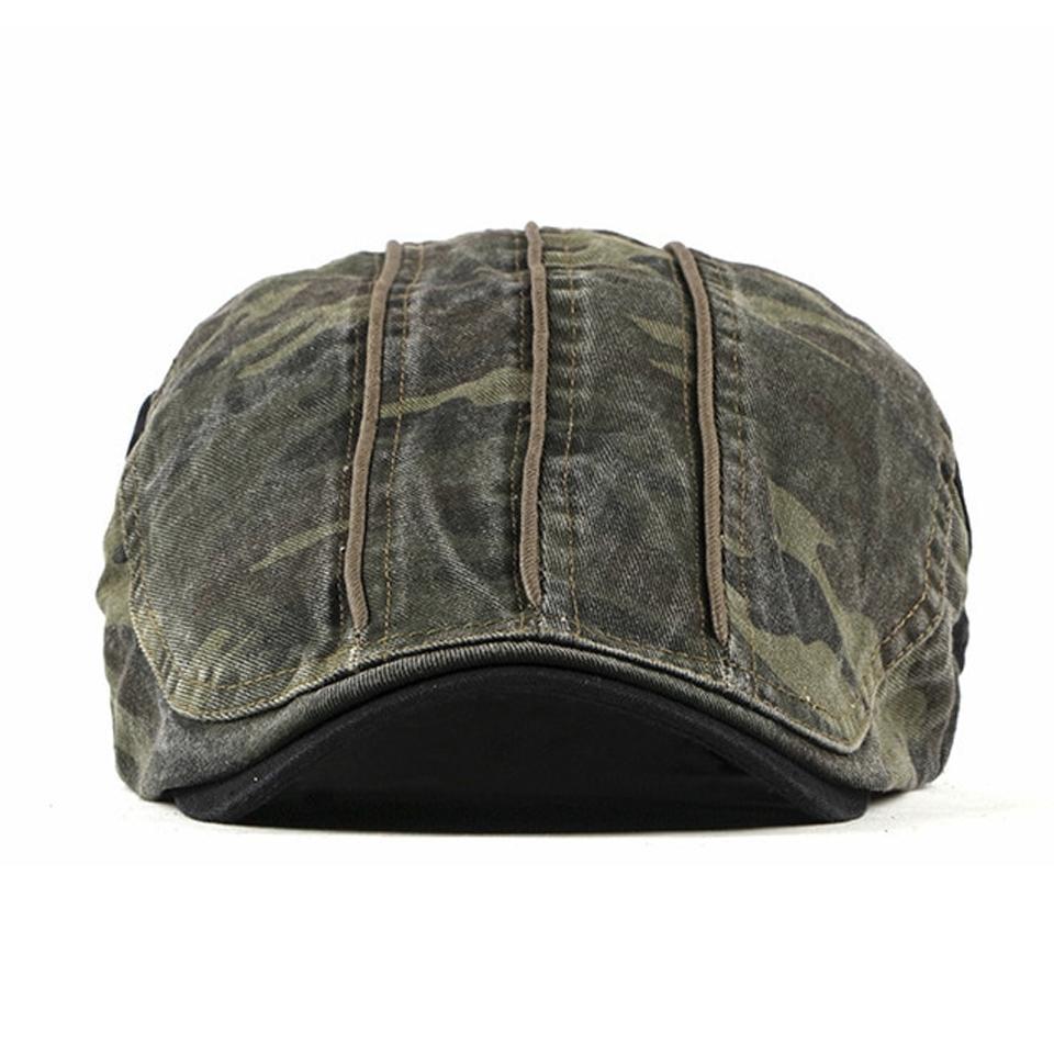 Béret plat camouflage Béret en coton Béret homme